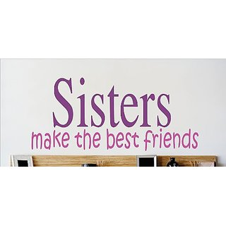 Design with Vinyl OMG 350 As Seen Sisters Make The Best Friends Quote Lettering Decal, 12 x 30-Inch