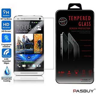 PASBUY M7 Premium Real Tempered Glass Screen Protector for HTC One M7
