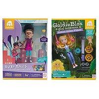 Maven Gifts: Ruby Rails Skydive Action Figure with GoldieBlox Zipline Action Figure