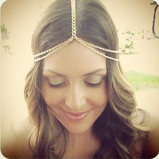 A&c 2016 Bohemia 2 Tiers Head Chain for Women, Fashion Headpieces for Girl.