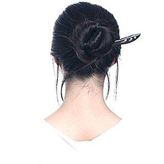 FINGER LOVE Handmade Carved Ebony (Black Sandalwood) Hair Stick: Wind