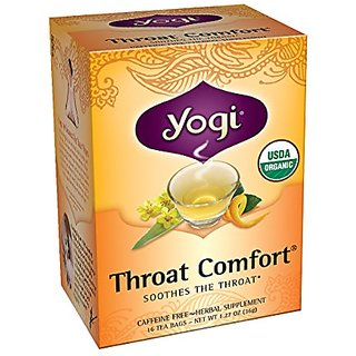 Yogi Teas Throat Comfort, 16 Count (Pack of 6)