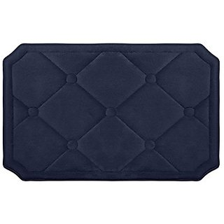 Bounce Comfort Gertie Extra Thick Memory Foam Bath Mat-Premium Micro Plush Mat with BounceComfort Technology, 17 by 24
