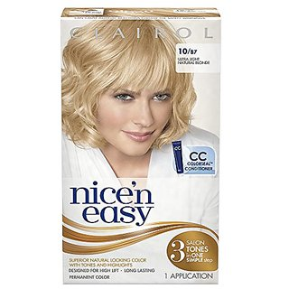 Clairol Nice N Easy Hair Color 10/87 Ultra Light Natural Blonde 1 Kit