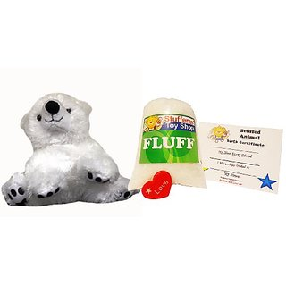 Make Your Own Stuffed Animal Mini 8 Inch Soft Polar Bear Teddy Kit - No Sewing Required!