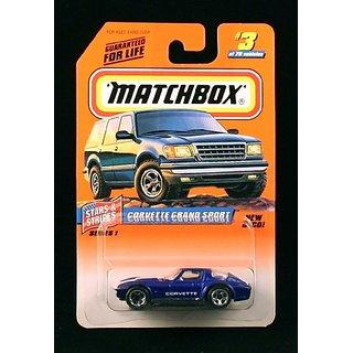 Corvette Grand Sport Blue Stars & Stripes Series 1 Matchbox 1998 Basic Die-Cast Vehicle (#3 Of 75)