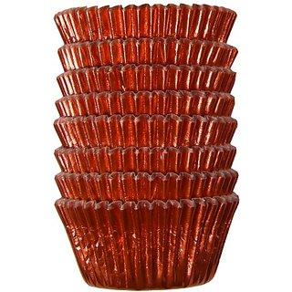 Regency Red Foil Baking Cups, 96-Count Mini