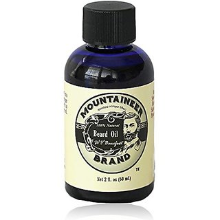Beard Oil by Mountaineer Brand, Barefoot/UNSCENTED: Beard Conditioning Oil, 2 Ounce bottle