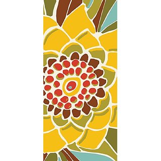 Paperproducts Design 35001 Avila Abstract Flower 100-Percent Cotton Kitchen/Bar Towel