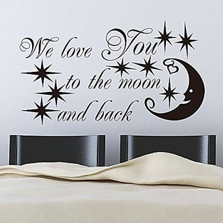 EMIRACLEZE Christmas Gift Holiday Shopping Letter Stars Starry Night Moon Removable Mural Wall Stickers Sticker for Childr