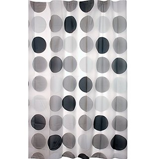 Kiera Grace Printed Peva Shower Curtain 70 Inch By 72 Mod Circle