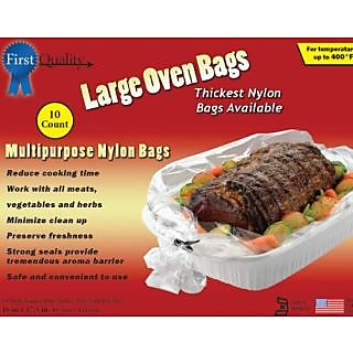 First Quality 16-Inch by 17-1/2-Inch Large Oven Bags 10 bags and Ties Per Box