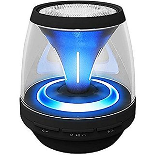 BOOMER VIVI Bluetooth Speakers B10 Wireless Portable Speaker with LED Lights, 4 Mode Lighting for Home Party DJ, Built-i
