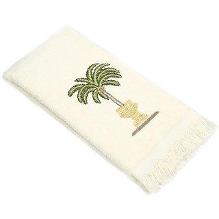 Avanti Linens Date Palm Fingertip Towel, Ivory