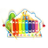 Wooden Colorful Xylophone Giraffe In Forest Hut Shaped Unique Musical Toy Presch