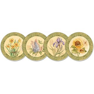 Counterart Floral Garden Absorbent Coasters - Assorted - Set Of 4
