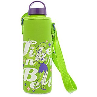 Disney - Tinker Bell Water Bottle with Neoprene Cover - New