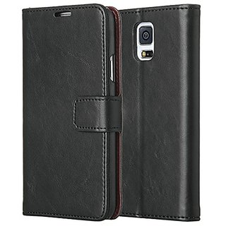 Galaxy S5 Case, ULAK Premium Synthetic PU Leather Wallet Case Cover for Samsung Galaxy S5 SV I9600 with Built-in Credit
