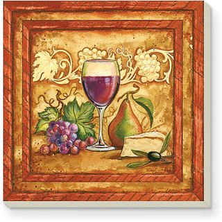Counterart Golden Wine Absorbent Coasters - Set Of 4