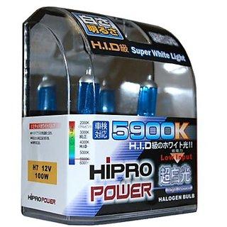Hipro Power H7 Super White 100Watt Xenon HID Headlight Bulbs - Low Beam