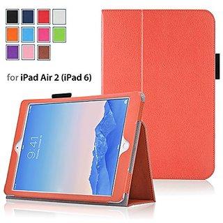 Elsse For iPad Air 2 - Premium Folio Case for All New iPad Air 2 (2014 Edition) - Orange
