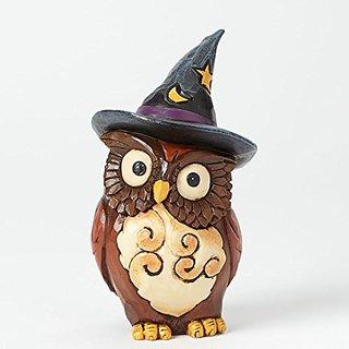 Jim Shore for Enesco Heartwood Creek Mini Owl Witch Figurine, 4-Inch