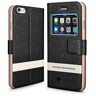 iPhone 6 Case - iKare [Fluoresce & Scent Series] Smart Window View Touch Metal Front Flip Cover Folio Stand Case for App