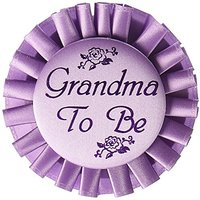 Grandma To Be Satin Button Party Accessory (1 Count) (1