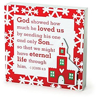 Christmas Believe Collection Plaques - Church - GOD SHOWED HIS LOVE/Christmas/Decorations