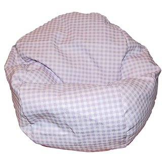 Ahh! Products Gingham Check Lavender Bean Bag Chair for Dolls