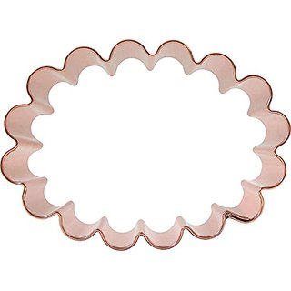 CopperGifts: Scalloped Oval Cookie Cutter 4.25 inch