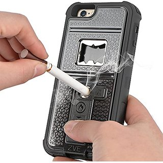 iPhone 6s Case, ZVE Multifunctional Cigarette Lighter Cover for iPhone 6/6s Built-in Cigarette Lighter/bottle Opener/ Ca