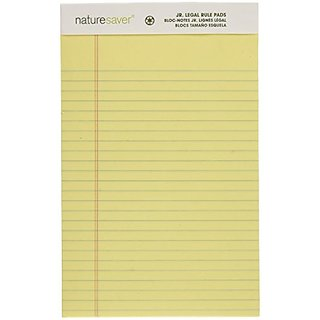 Nature Saver Recycled Pad Jr Legal Ruled 5 X 8 Inches 50 Sheets Canary Andnat00866