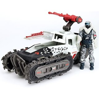 GI Joe Alpha Vehicle Cobra Ice Cut With Snow Serpent