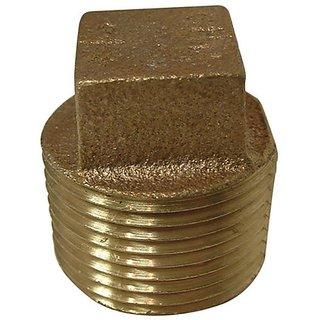 Aviditi 90091 1/4-Inch Brass Plug, (Pack of 5)
