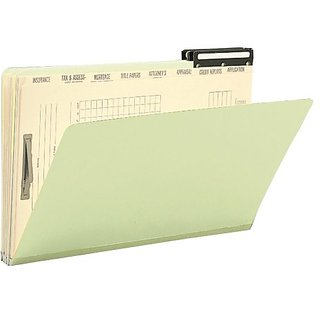 Smead Pressboard Mortgage File Folder - 2/5-Cut Right Position Flat Metal Tab - 14-3/4
