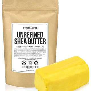 Yellow Shea Butter by Better Shea Butter - African, Raw, Pure - Use Alone or in DIY Body Butters, Lotions, Soap, Eczema