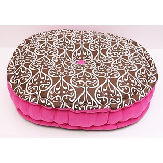 Damask Pink/Choco Floor Pillow