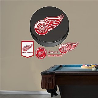 NHL Detroit Red Wings Logo Fathead Wall Decal, Real Big