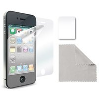 iLuv Glare-Free Protective Film Kit for iPhone 4S - 1 Pack - Case - Retail Packaging - Clear
