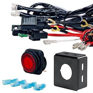 buy l hus cruizer off road atv jeep led light bar wiring harness  l hus cruizer off road atv jeep led light bar wiring harness kit 40 relay on off switch