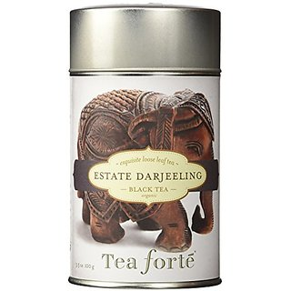 Tea Forte ESTATE DARJEELING Loose Leaf Black Tea, 3.5 Ounce Tea Tin