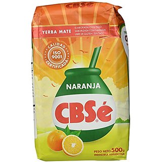 Yerba Mate CBSe Orange Flavor, 1.1 lbs, from Argentina
