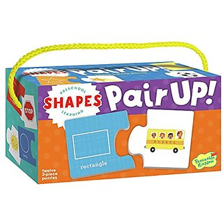 Peaceable Kingdom Preschool Learning Pair Up! Shapes Matching Puzzles