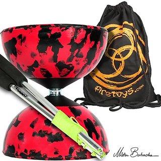 Harlequin Diabolos Set, Metal Diabolo Sticks, Diablo String & Bag (4 Colour!)