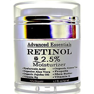 Retinol Moisturizer Cream For Face And Eye Area With Hyaluronic Acid, Vitamin E , B5 And Green Tea. Potent Anti Aging Fo