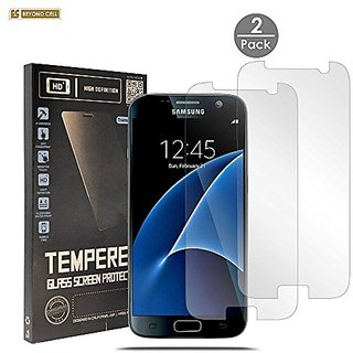 Samsung Galaxy S7 Tempered Glass [2 PACK], Spots 8 Premium [Tempered Glass] High Definition Ultra Slim Clear Glass Scree