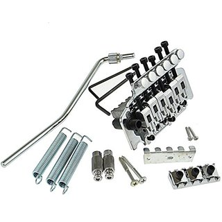 Chrome Guitar Tremolo Bridge Double Locking Systemfor Floyd Rose Guitar Repalcement