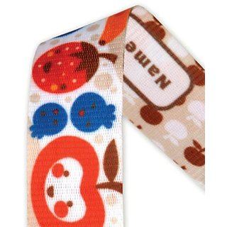 Baby / Child Ulubulu Personalized Hand Washable Cotton Strap Pacifier Metal Clip Universal Fit - Fruit Salad Infant