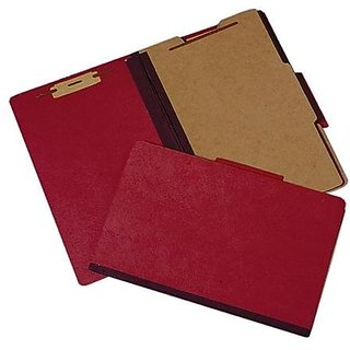 SKILCRAFT 7530-01-463-2324 Classification Folder, 2-Inch Expansion, Legal Size, Earth Red